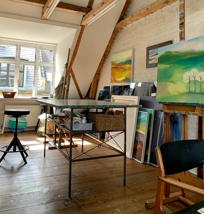 Susan Luth Hedegaards atelier