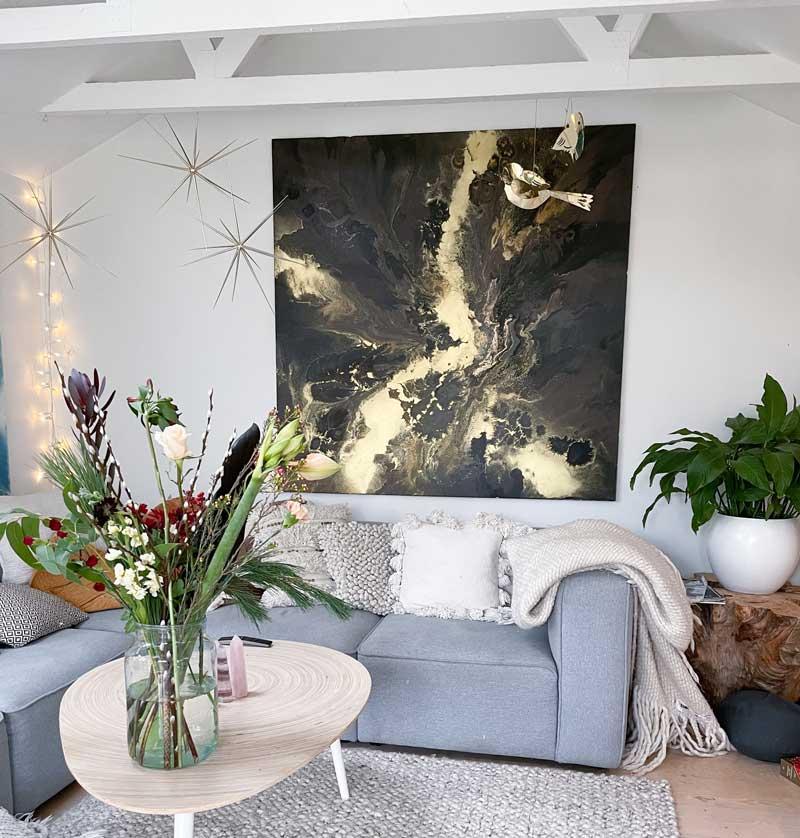 Monnicks smukke maleri i dagligstuen